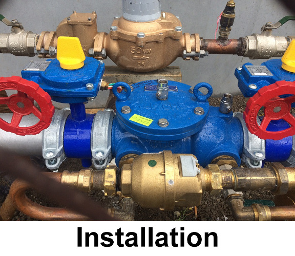 backflow prevention installation example