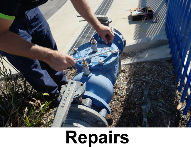 repairing a backflow prevention device