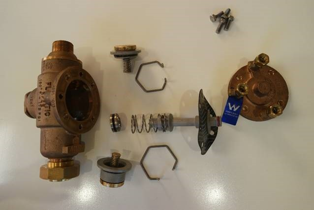 parts from a backflow device